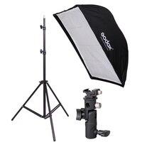 190 cm Photographie La Lumière Se + 60x90 cm Parapluie Softbox + Hot Shoe Support kit 190 cm