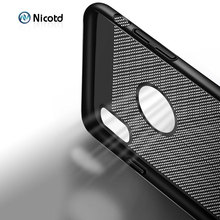 цена на For iPhone 6 6s 7 8 Plus Ultra Slim Phone Case Hollow Heat Dissipation Cases Hard PC For iPhone XS XR X Back Cover Coque X S MAX