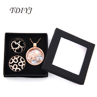 TDIYJ My Coin Necklace with 1Pcs Black Jewelry Coin Box,Ball Chain and 1.2mm Butterfly Love Heart Coin Disc for Women Gifts 1Set