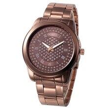 Geneva ЧАСЫ ЖЕНСКИЕ НАРЯДНЫЕ часы Женские кварцевые наручные часы из нержавеющей стали серебряные золотые часы подарок кварцевые часы montre femme