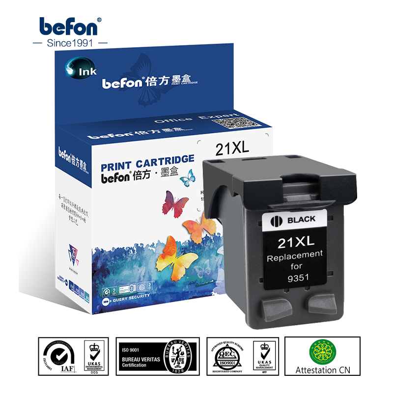 befon Refill 21 22 XL Ink Cartridge Replacement for HP 21 22 HP21 HP22 21XL 22XL Deskjet F2180 F2280 F4180 F380 380 Printer for hp 21 22 21xl 22xl ink cartridge for hp21 deskjet f2280 f380 f2100 f2110 f2240 f2180 f2250 f4100 d1360 d2360 printer