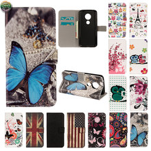 Wallet Case For Motorola Moto E5 Play XT1921-1 Phone Leather Flip Case Cover For