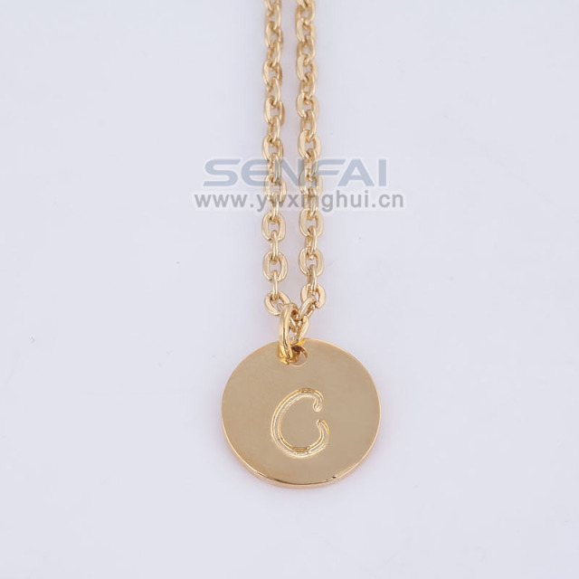 Fashion brand personalized 16mm gold disc monogrammed charm fashion brand personalized 16mm gold disc monogrammed charm initial pendant necklacecelebrity inspired colares jewelry aloadofball Images