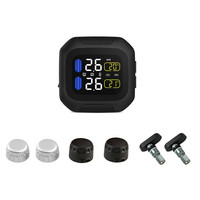 M3 Wireless LCD Display Motorcycle Real Time Tire Pressure Monitoring System Waterproof TPMS Internal or External TH/WI Sensors
