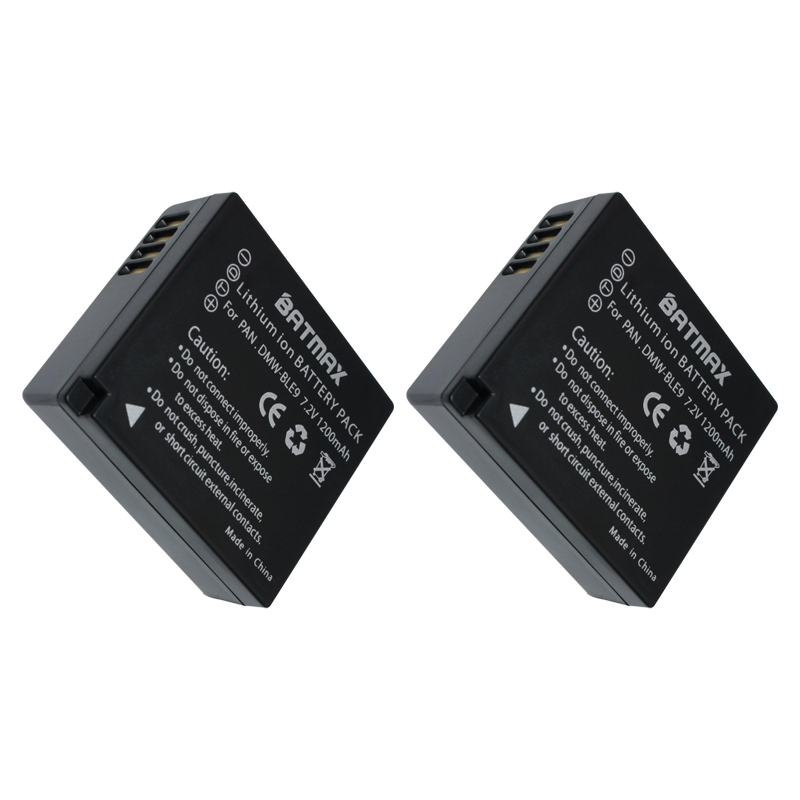 2Pc DMW-BLG10 BLG10 BP-DC15 BPDC15 Batteries+LCD Charger for Panasonic Lumix GF6,GX7,GX80,GX85,GX7 Mark II,LX100,D-Lux(Type 109)