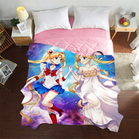 Mxdfafa New 3D Anime Summer Quilts Luxury Good Quality Bed Cover Children Adults Duvet Sailor Moon Soft Comforter