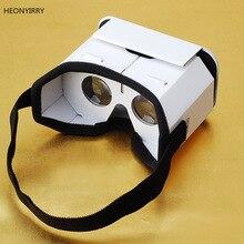 d346a796f DIY المحمولة نظارة الواقع الافتراضي جوجل كرتون 3D نظارات نظارة واقع افتراضي  للهواتف الذكية ل فون X 7 8 VR