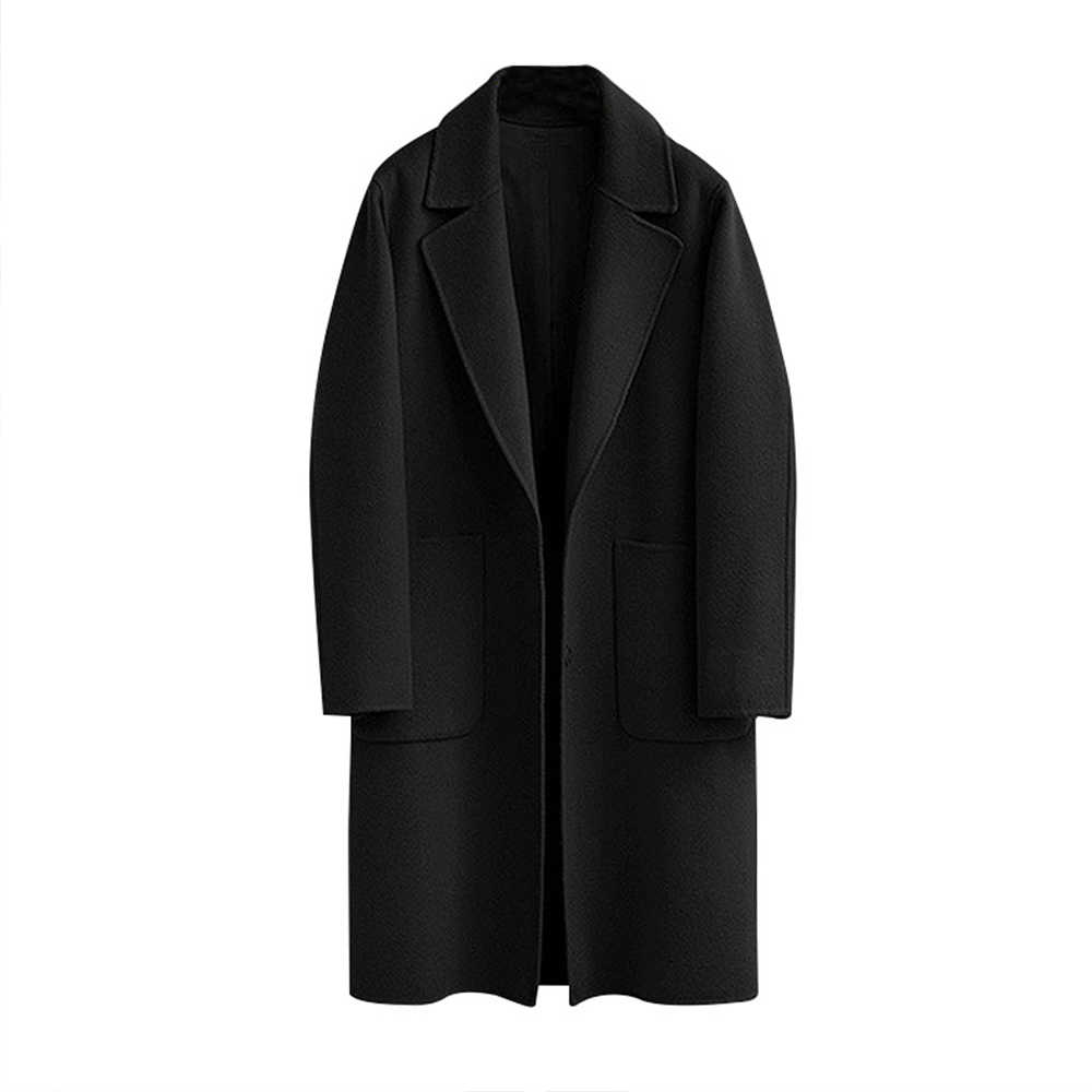 549b49f6b Wool Blend Long Sleeve Lapel Buttons Coat Women Thick Warm Vintage Black  Camel Jacket Cocoon Style Trench Coats Plus Size 5XL