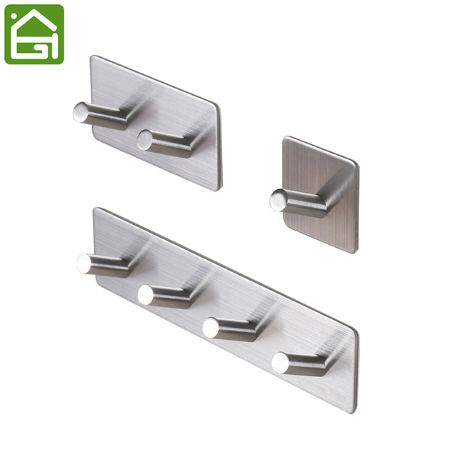3M Self Adhesive Wall Door Back Hooks Heavy Duty Stainless Steel Clothes Hanger Bathroom Kitchen Towel  sc 1 st  AliExpress.com & 3M Self Adhesive Wall Door Back Hooks Heavy Duty Stainless Steel ...