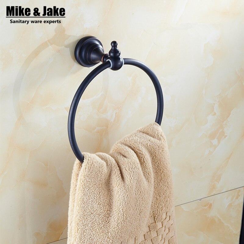 Solid Brass Black Towel Ring Holder Bathroom Towel Holder Ring,Towel Bar Bathroom  Towel Accessories