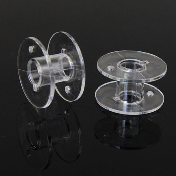 Lots 10 Clear Plastic Bobbins For Brother Janome Singer Sewing Machine Домой Accueil Hogar clasificar универмаг image