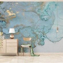 Papel pintado de encargo de la foto de beibehang Mural 3D moda Vintage de lujo azul bronce textura TV fondo de pared papel de parede 3d
