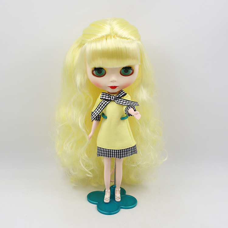 Yellow Long Hair Nude Doll, Factory Doll ,Big Eye Doll -6300