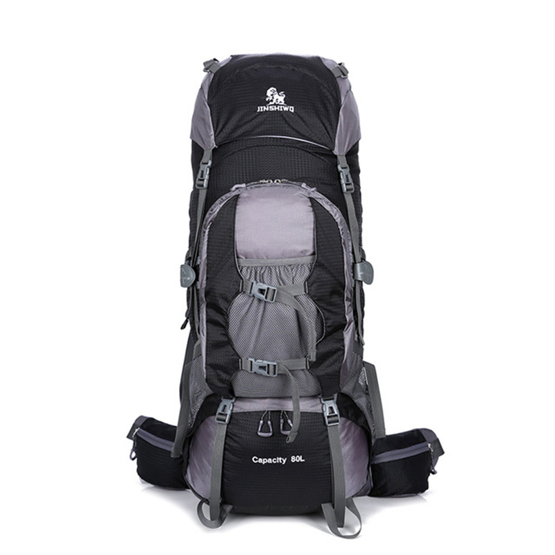 80L Nylon Outdoor Bags Camping Hiking Backpack Bag Waterproof Men Women Backpacks Sport Bag Climbing Backpack Travel Rucksack 80l camping hiking backpacks big outdoor bag backpack nylon superlight sport travel bag aluminum alloy support 1 65kg