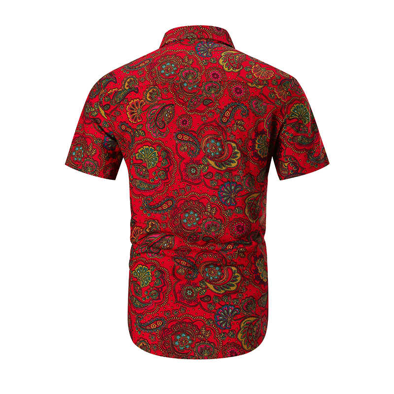 Мужские тонкие льняные Гавайские рубашки с цветочным принтом, с коротким рукавом, модные, большие размеры, повседневные, облегающие летние рубашки, мужские топы, рубашки