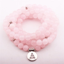 цена Fashion Design Women`s Yoga Bracelet Picture Moss Natural Stone Necklace Buddha Pendant Charm Wrap Bracelet в интернет-магазинах
