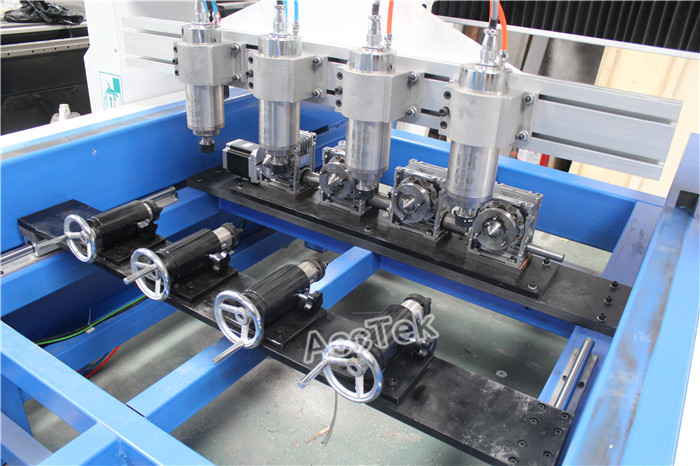 High precision multi head wood 3D cnc router , 4 axis cnc router , cnc carving machine with rotary axis for sofa legs