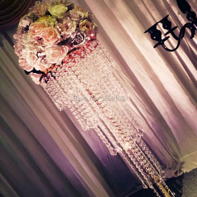 100cm Tall 10PCS Lots 5 Tiers Of Acrylic Crystal Wedding Centerpiece