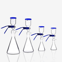 250ml 500ml Vacuum Filter Solvent Filtration Apparatus Laboratory Glass Funnel