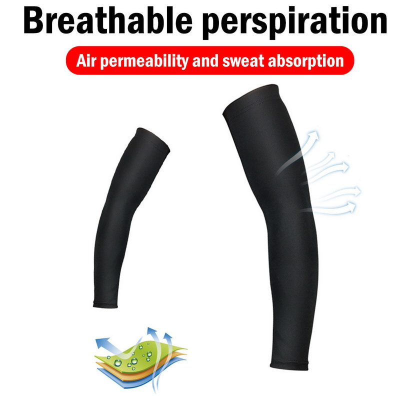 Laamei Breathable Quick Dry Arm Sleeves Uv Protection Compression Running Basketball Elbow Pad Fitness Sports Arm Warmers Men's Accessories