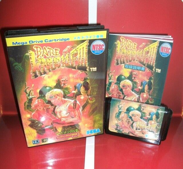 Çıplak Knuckle 3   MD oyun kartuşu japonya kapak kutusu ve manuel Sega Megadrive Genesis Video oyunu konsolu 16 bit MD kart