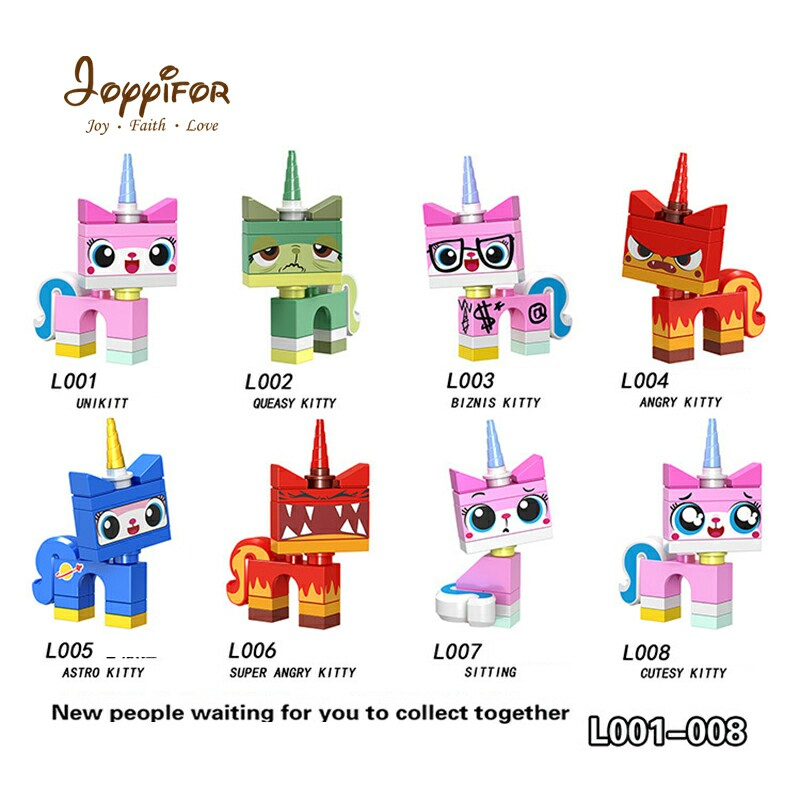 Joyiifor hero Compatible Building Blocks glasses cat Cute expression super  angry kitty cutest kitty unikitty
