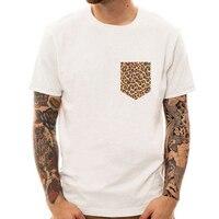 Gefälschte Tasche Leopard Witzige T Shrt Humor design Nordamerikanischen Harajuku Shirts camisetas hombre Tier element t-shirt