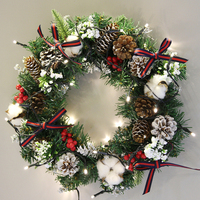 Christmas Garland Wreath Green Rattan Gifts Supplies New Year Ornament Festive Romantic Jewelry Home Decoration For Happy Family