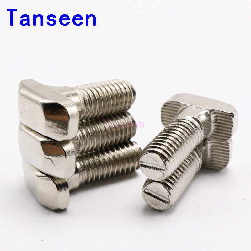 40 Series M8 T-Baut Panjang 16 20 25 30 35 40 45 Mm T Sekrup untuk M8 Flanged kacang untuk 40 S Profil Aluminium