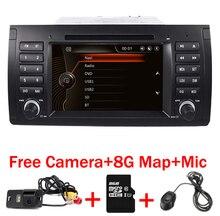 """Оригинальный UI 7 """"автомобиль DVD GPS для BMW E39 X5 E53 с GPS Bluetooth Радио RDS USB SD рулевого управления колеса бесплатная Камера"""