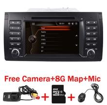 Original UI 7″ Car DVD GPS For BMW E39 X5 E53 With GPS Bluetooth Radio RDS USB SD Steering wheel control Free Camera