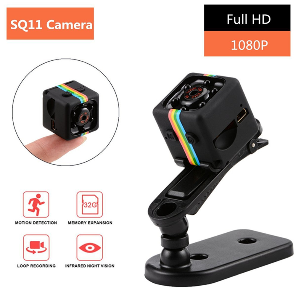 Mini Camera SQ11 1080P Sport DV Mini Infrared Night Vision Monitor Concealed Camera Car DV Digital Video Recorder PK SQ12 SQ 11