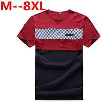 10XL 8XL 6XL 5XL 4XL 2018 Summer T Shirt Men 100 Pure Cotton Embroidery Letter O