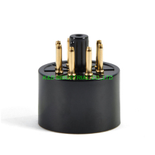 10pcs 8pin Vacuum Tube Gold plated Black bakelite Sockets for KT88 6550 EL34 S8AES