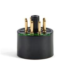 лучшая цена 10pcs 8pin Vacuum Tube Gold plated Black bakelite Sockets for KT88 6550 EL34 S8AES