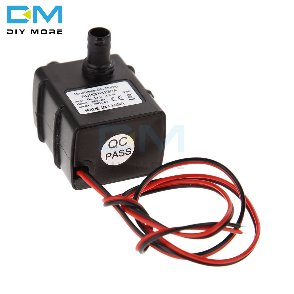 Dc 12v 240l/h 3m Ultra Quiet Brushless Motor Submersible Pool Water Pump Hydroponics Solar Attractive Appearance Active Components