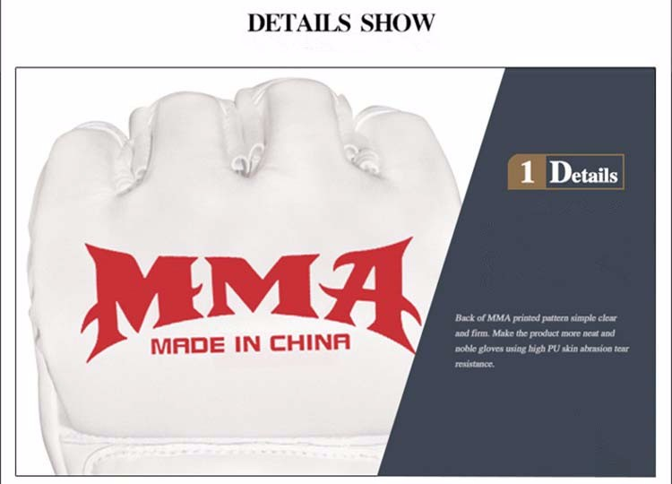 Half Finger Boxing Gloves Men Gants De Boxe MMA Luva Boxe MMa Gloves Fighting Training Luva De Box PU Sandbag Boxing Equipment 14