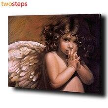 TwoSteps DIY Digitale Leinwand Ölgemälde Durch Zahlen Färbung Durch Zahlen Große Acryl Farbe Durch Zahl Kits Schöne Engel Mädchen