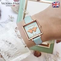 Victoria Hyde Kadın Kuvars Saatler Bayanlar Bilek Izle Kelebek Arama Saat Bayanlar Izle Su Geçirmez Hediye Kutusu