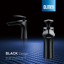 OLMEY Matte Black Waterfall Spout Bathroom Basin Mixer Tap, Single Handle Single Hole Brass Lavatory Faucet стоимость