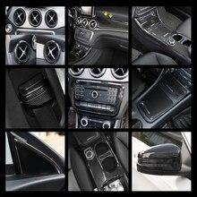 Center Console Aria Condizionata Presa di Decorazione Cornice Stile Fibra di Carbonio Per Mercedes Benz CLA C117 GLA X156 Scatola di Immagazzinaggio Decalcomanie