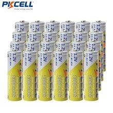 24 pièces PKCELL AA piles 1.2V NIMH 2A 1300mAh Ni MH AA piles rechargeables Bateria Baterias pour lampe de poche