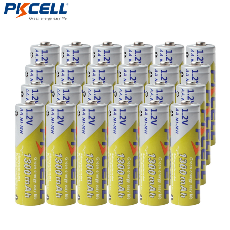24Pcs PKCELL <font><b>AA</b></font> <font><b>Batteries</b></font> <font><b>1.2V</b></font> NIMH 2A <font><b>1300mAh</b></font> Ni-MH <font><b>AA</b></font> <font><b>Rechargeable</b></font> <font><b>Battery</b></font> <font><b>Batteries</b></font> Bateria Baterias for flashlight image