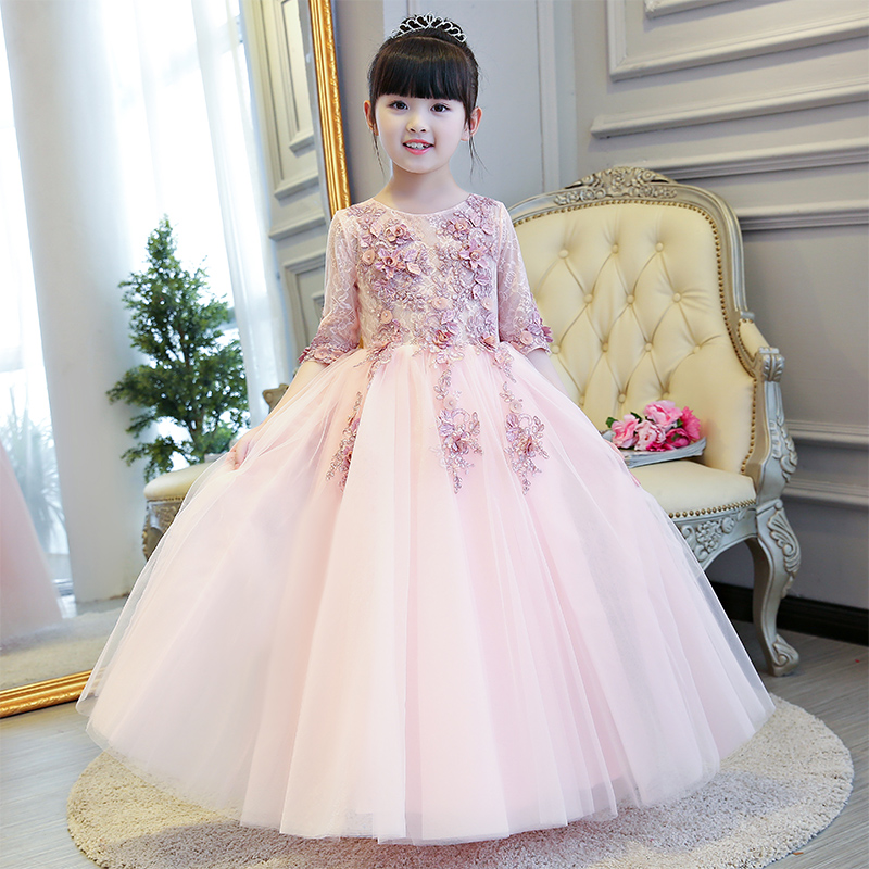 Aliexpress.com : Buy Glizt Girls Pink Wedding Dresses Half