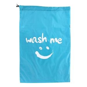 Image 4 - Wäsche Tasche Faltbare Nylon Kordelzug Wäsche Tasche Schmutzige Kleidung Lagerung Taschen Multi funktionale Hause Waschsalon Reise Veranstalter