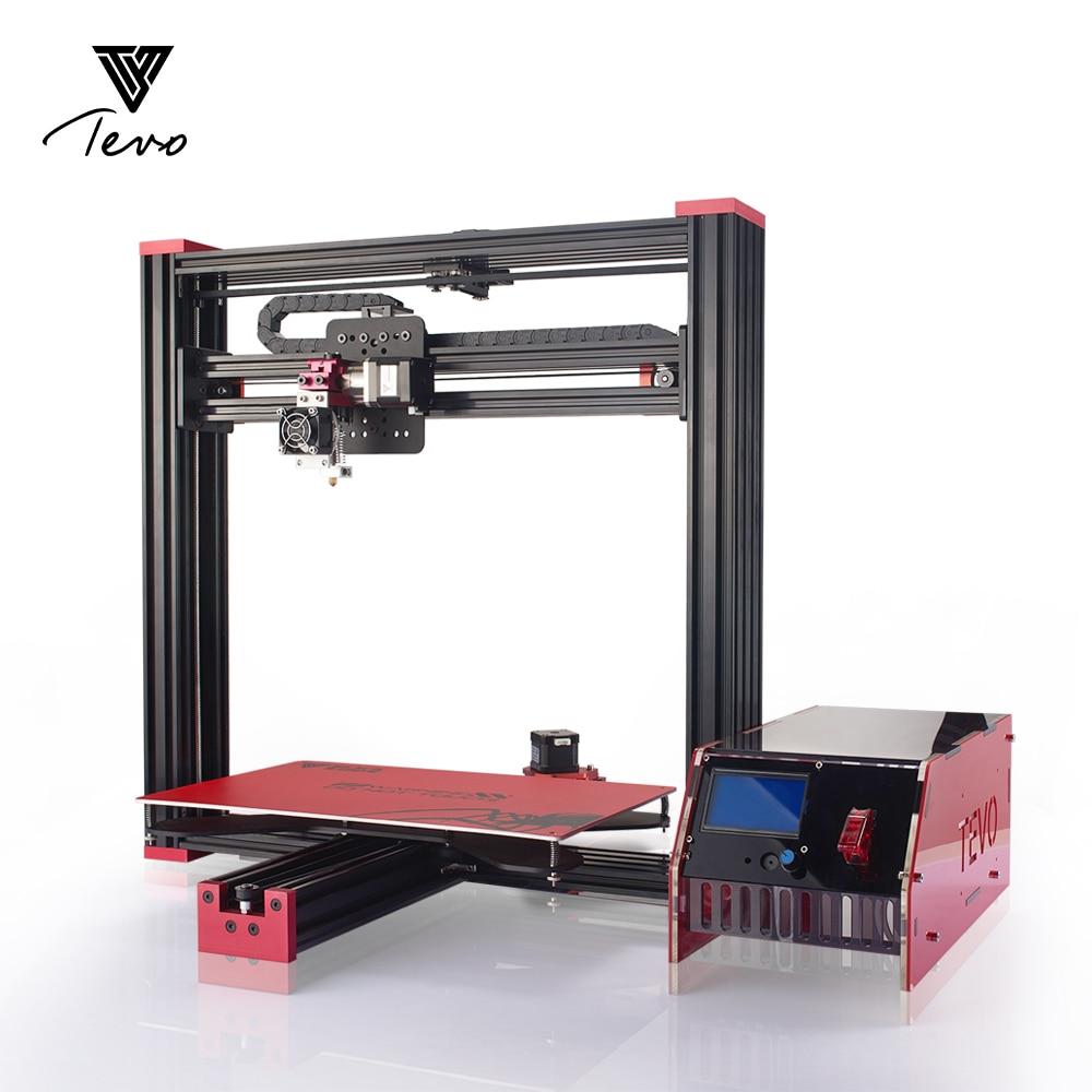 Impresora 3D TEVO Черная Вдова 3D-принтеры 370*250*300 мм MK3 Алюминий Горячие кровать для OpenBuild алюминиевого профиля с МКС Mosfet