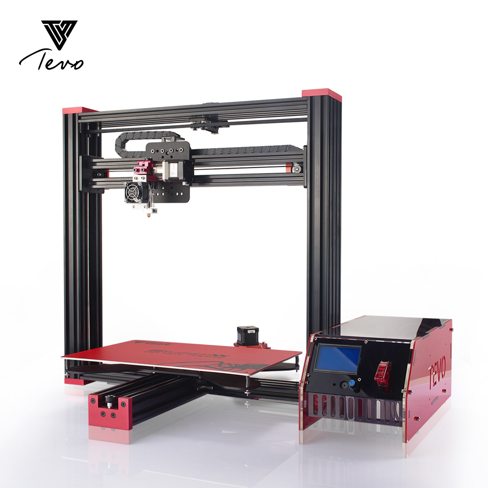 Impresora 3D TEVO Black Widow 3D Printer 370*250*300mm MK3 Aluminum Hot bed for OpenBuild Aluminium Extrusion with MKS Mosfet flsun 3d printer big pulley kossel 3d printer with one roll filament sd card fast shipping
