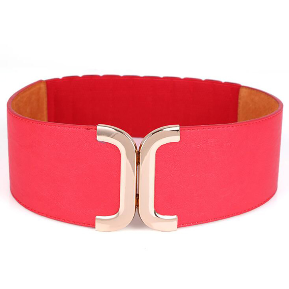 Fashion Waist Belts Women Fashion Lady Solid Stretch Elastic Wide Belt Dress Adornment For Women Waistband New