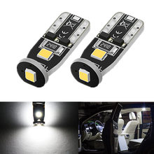 2pcs T10 LED W5W Bulbs 2835 SMD Car Interior Light Lamp for Toyota Corolla Camry Rav4 Prius Yaris Avensis Hilux C-Hr Auris CHR цена 2017
