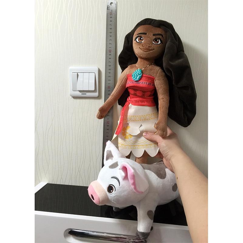 HOT SALES 50cm Moana Princess & 25cm Spotted Pig Anime Maui Chief Tui Tala Heihei Pua Plush Brinquedo Toys For Children 2 Styles стоимость